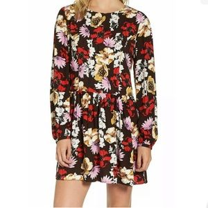 Hinge Womens Pintuck Mini Dress NWT